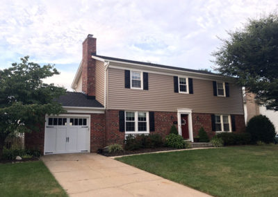 Exterior remodel and new garage doors Baltimore County MD